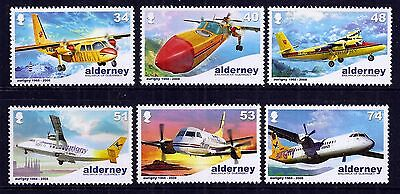Alderney 2008 Air Services set fine fresh MNH