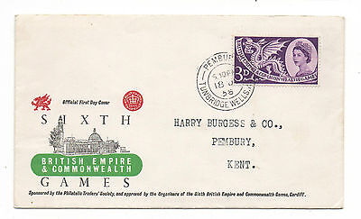 GB. 1958 British Empire Games FDC. Official Cover.