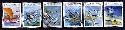 Alderney 2009 Naval Aviation set fine fresh MNH