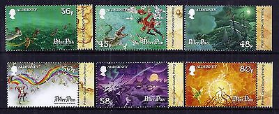 Alderney 2010 Peter Pan set fine fresh MNH
