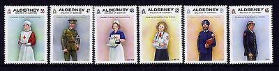 Alderney 2011 Red Cross Uniforms set fine fresh MNH