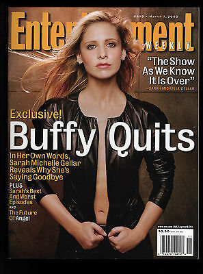Entertainment Weekly #699 March 7, 2002 Buffy The Vampire Slayer Cover/Story NM