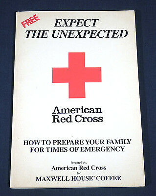 Maxwell House Coffee Give-Away Premium American Red Cross Book Expect Unexpected
