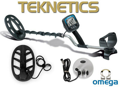 """Teknetics Omega 8500 Pro 3 Coil Package Metal Detector with 11""""  5"""" & 10"""" Coils"""