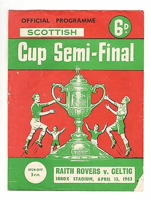 Raith Rovers v Celtic 1962 - 1963  Scottish Cup semi-final
