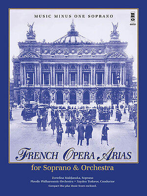 French Opera Arias Soprano & Orchestra Vocal Sheet Music Minus One Book CD NEW
