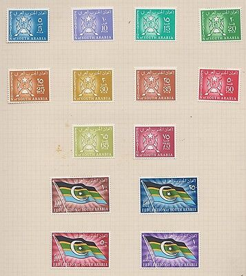 SOUTH ARABIA 3-16  Arms & Flags mint 1965