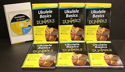 6 Ukulele Basics For Dummies Learning HOW TO BOOK &  CD Bulk School teacher SALE