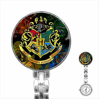 Harry Potter Hogwarts School Stainless Steel Fob Nurse Watch Nurses Watch D11