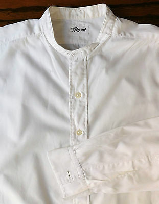 Vintage tunic shirt size 15.5 Rochester collarless imperfect for theatre costume