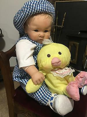 """Gotz Doll by Didy Jacobsen 23"""" Vinyl Germany life like realistic baby toddler"""