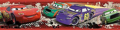DISNEY CARS Red PISTON CUP RACING Wall Border Room Decor LIGHTNING MCQUEEN Decal