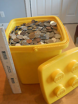 Half, 1/2, .5, Pound lb Assorted Foreign Coins World Nice Variety Starter Lot