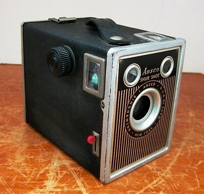 Vintage Art Deco Ansco Shur Shot Box Camera - NICE!