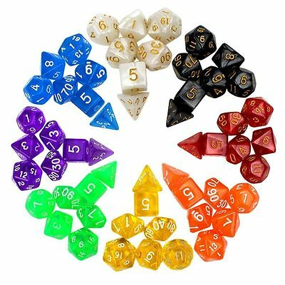 7pcs/Set Polyhedral TRPG Games Dungeons&Dragons Dice D4 D6 D8 D10 D12 D20 Purple