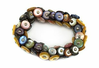 Boot Button Bracelet Vintage Victorian Antique Buttons 6 7 Inch Multiple Colors