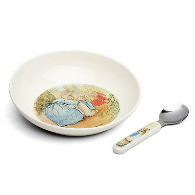 NEW IN BOX Beatrix Potter - Peter Rabbit Classic Bowl & Spoon First Feeding Set