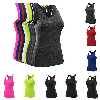 New Womens Sports Vest Fitness Exercise Gym Yoga Fast-drying Singlet Casual Tops