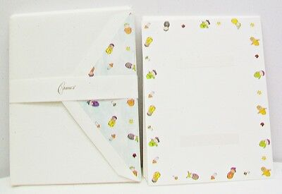 CRANE'S Baby Boom Photomounts 10 Photo Cards 10 Envelopes Pearl White Kid Finish