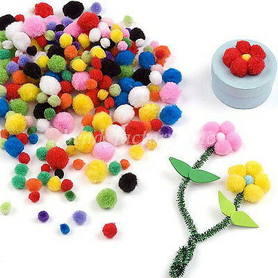 Plush Multicolor Fur Pompom Ball DIY Home Wedding Decor Kids Toy 10/15/20/25mm