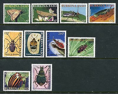 Burkina Faso 1241-50, MNH, Insects Beetles 2002 one stamp has Fingerprin. x23945