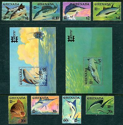 Grenada 1506-1515 MNH CAPEX-1987: Barracuda, Yellow-fin Tuna.  x11776