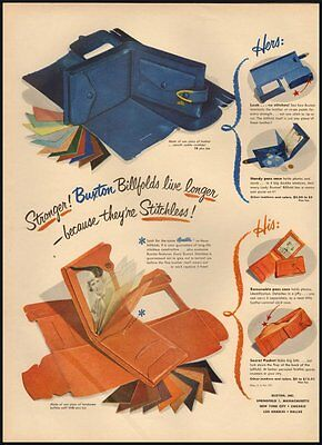 1951 Vintage Ad for Buxton Billfolds (010612)
