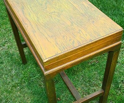 vintage cutlery table table with lift up lid table with secret lid wood table