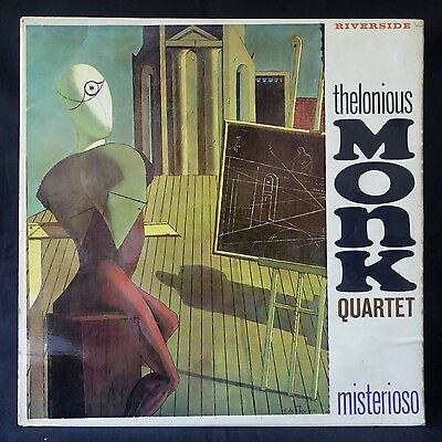 THELONIOUS MONK QUARTET Misterioso RIVERSIDE UK 1st PRESS REEL RLP 279 LP EX