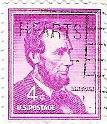1954 United States 4c Stamp Mauve Lincoln  Used