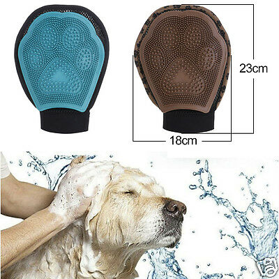 Hot Durable Pet Dog Cat Non-toxic Massager Glove Bath Shower Brush Tool Newly