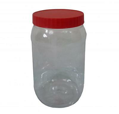 Sunpet 1500ml Red Top Plastic Food Kitchen Storage Canister Jar Container
