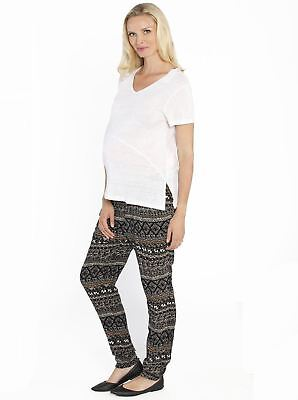 Maternity Outfit: Linen Top & Harem Pants Lounge Set