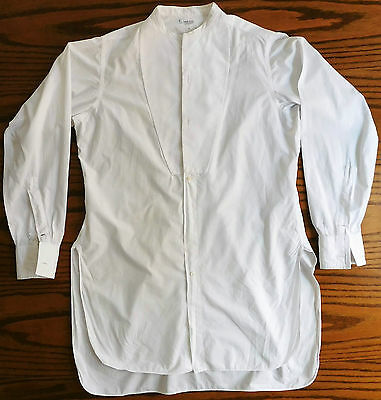 Marcella tunic shirt 14.5 Drew Piccadilly Arcade vintage 1910s mens formal VGC