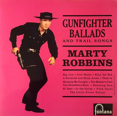 MARTY ROBBINS - Gunfighter Ballads And Trail Songs (LP) (VG-EX/VG)