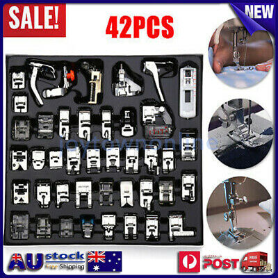 42 PCS Domestic Sewing Machine Presser Foot Snap On For Brother Singer Set Kits