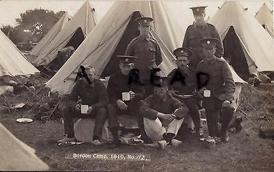 Soldier Group 5th Battalion London Regiment London Rifle Brigade Bordon 1910
