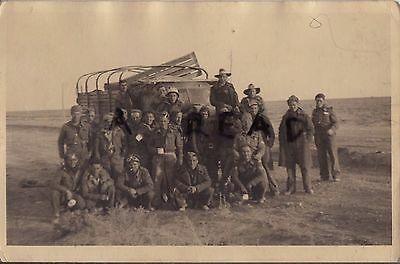 Group of Drivers RASC Royal Army Service Corps ? & Australian Military Forces