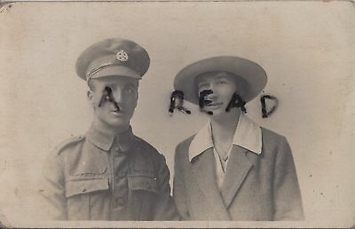 WW1 soldier Rifle Brigade with Wife ?
