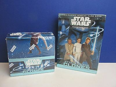 SEALED tcg STAR WARS ATTACK CLONE TRADING CARDS 36 booster packs starter set Q04
