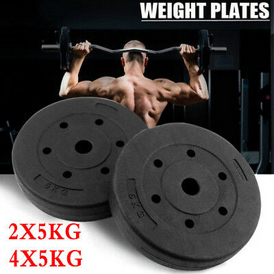 10/20KG Weight Plates Fr Barbell Dumbbell Gym Bench Weights Set Fitness Exercise