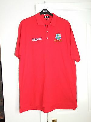 West Indies 'Windies' Cricket Polo Shirt Red Men's Extra Extra Large Top XXL