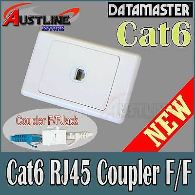 1Port Cat6 RJ45 DATAMASTER Wall Plate Cat 6 coupler F/F Jack