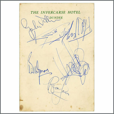 Rolling Stones 1964 Signed Dundee Hotel Card (UK)