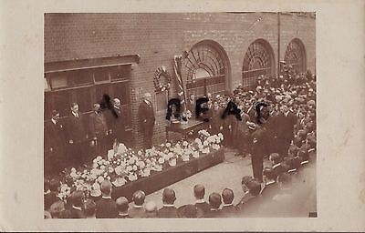 Rare WW1 unveiling of Street Memorial at Factory ? Crowds looking on