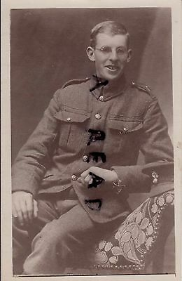 WW1 bespectacled Soldier Royal Fusiliers