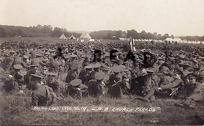 Soldier Group 5th London Regiment London Rifle Brigade Bordon Camp 1910
