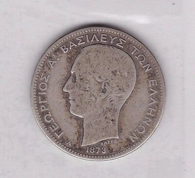 Greece 1873A Silver Two Drachmai In Used Fair To Fine Condition
