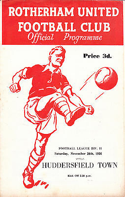 ROTHERHAM UNITED v HUDDERSFIELD TOWN  56-57 LEAGUE MATCH