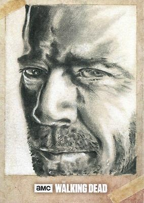 The Walking Dead Season 6 Sketch Card By Unknown Artist